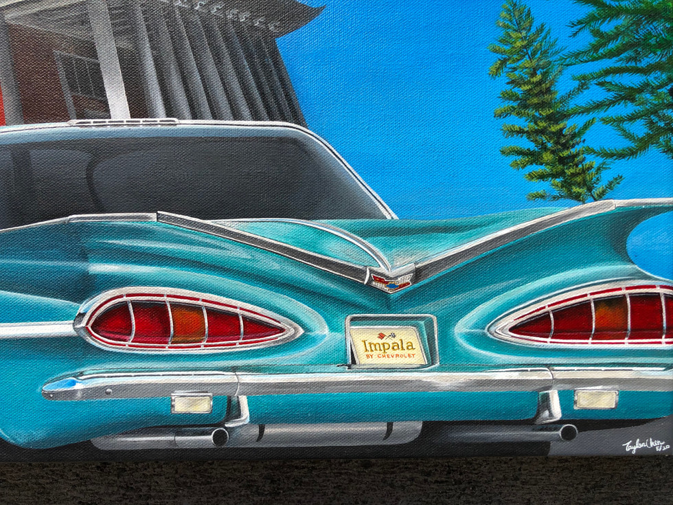 12x36 Acrylic on canvas 1959 Chevy Impala