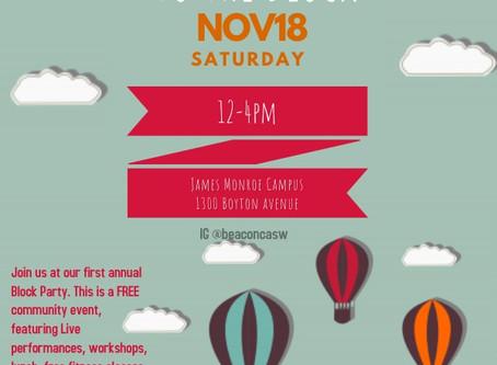 BEACON: Community service event this Saturday, November 18th 2017 (Haga clic en la publicación para