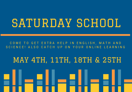 May Saturday School Now Open!
