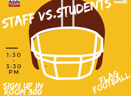 Student vs Staff Flag Football Game December 8th