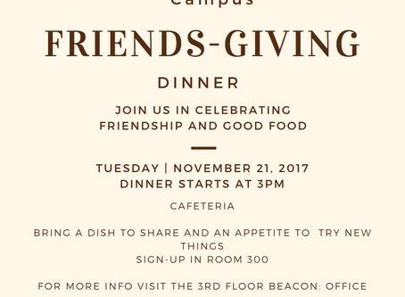 BEACON: Metro's First Friendsgiving Dinner November 21s