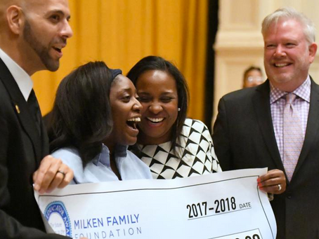 Congrats Aja Brown 2017 Milken Award Recipient