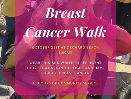 Breast Cancer Walk This Weekend!