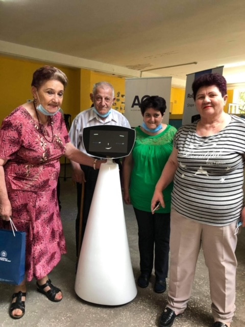 Robin the Robot at Nork Old Age Home!