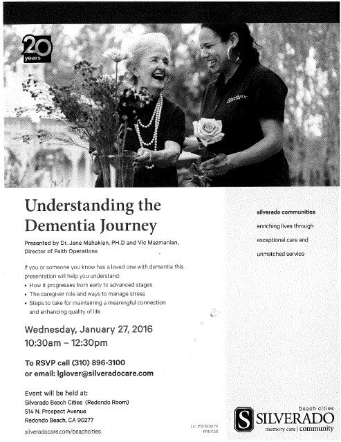 Upcoming Event: Understanding the Dementia Journey @ Silverado