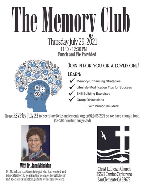 The Memory Club in South County has returned!