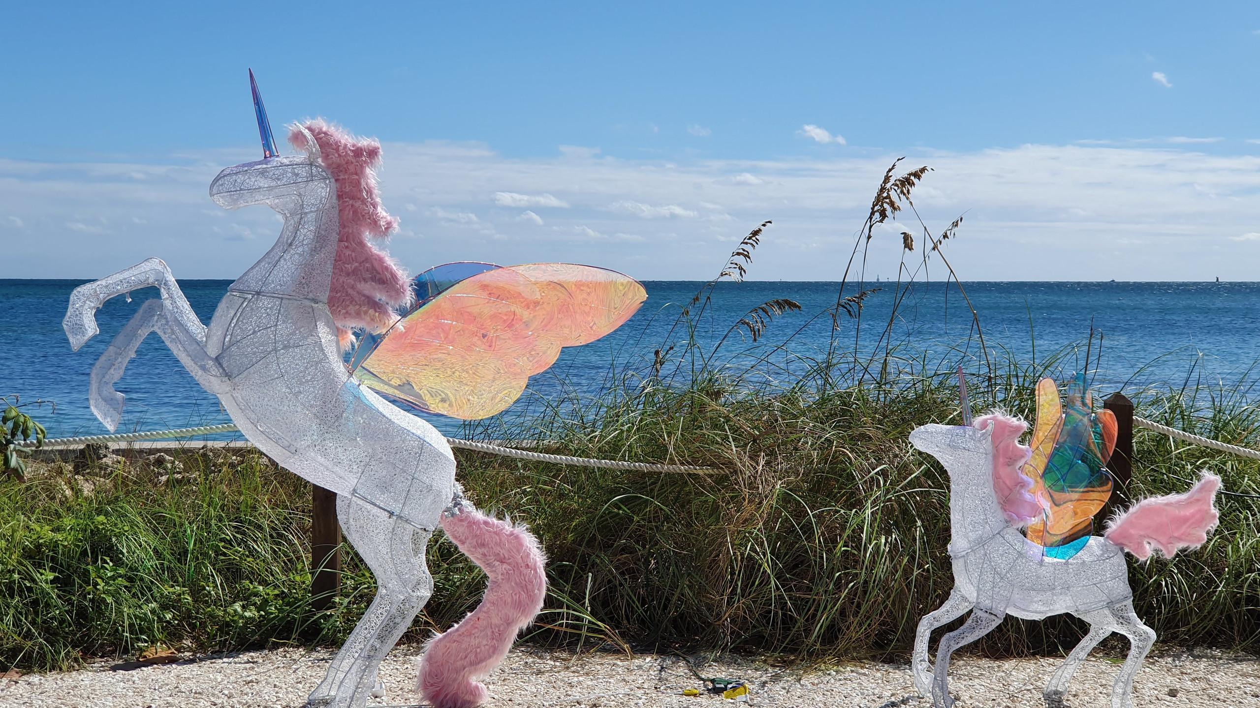 Unicorns at Cape Florida Lighthouse