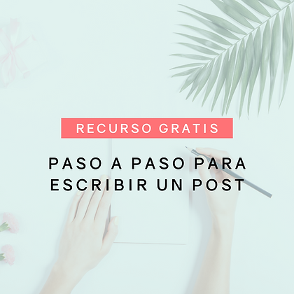 Paso a paso para escribir un post