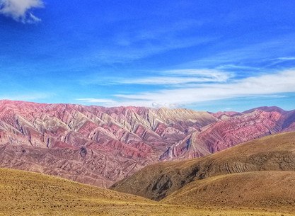 Jujuy, multicolored hills and ravines