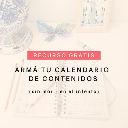 Armá tu calendario de contenidos