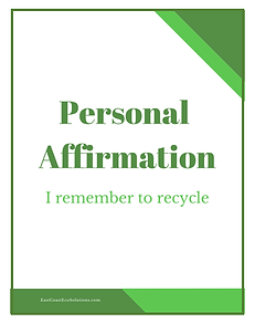 Personal Affirmation - I Remember to Rec