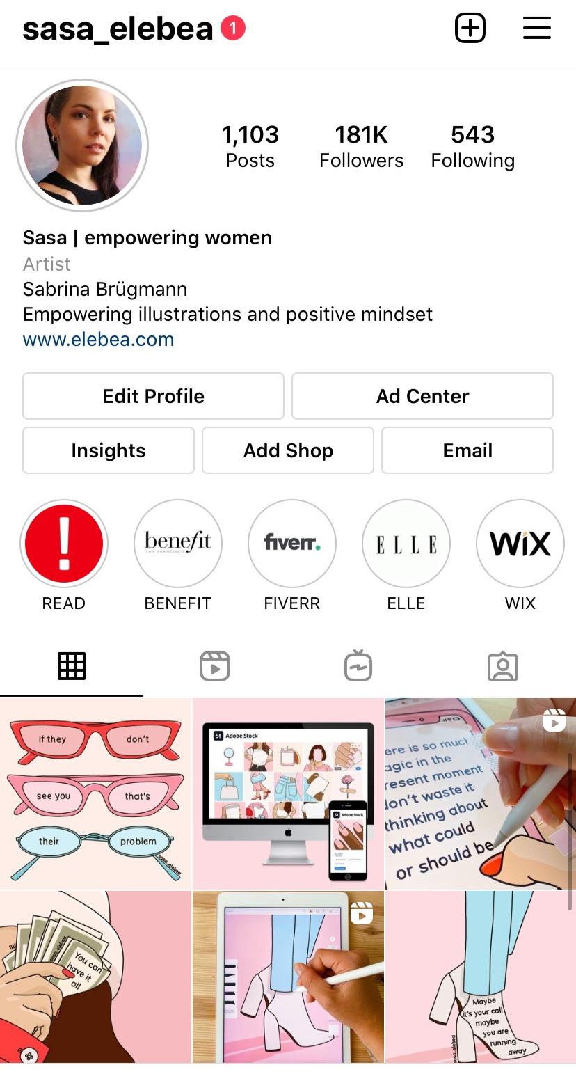 Instagram Sasa Elebea