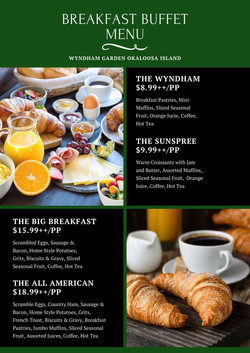 Breakfast Buffet Menu