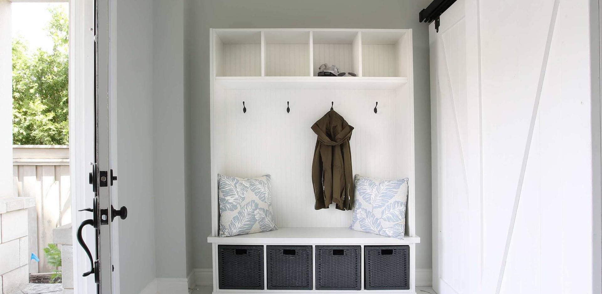 New Entrance and custom cabinet & closet door