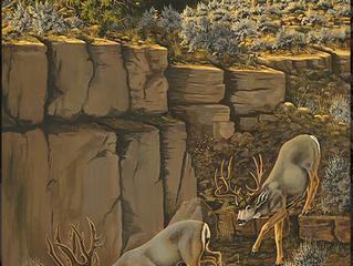 """Getting Schooled"" Mule Deer Foundation 2014 Artist of the year"