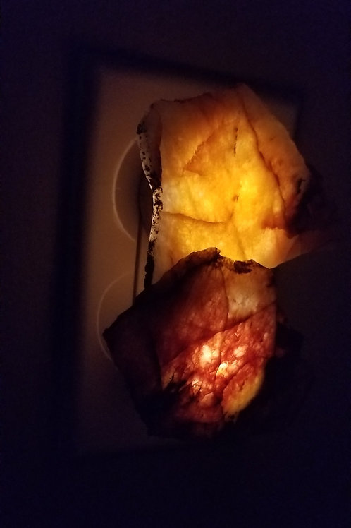 Natural Yellowknife Quartz Night Lights