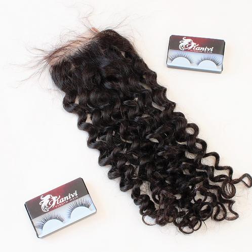HD flower curl  CLOSURE 12'-22'