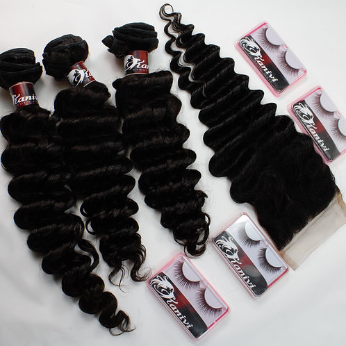 3 BUNDLES +  4x4-5x5 CLOSURE DEAL