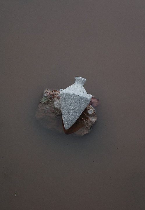 Mini Amphora Vessel (Oatmeal)