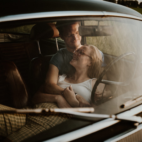 Don't sell the Volvo / couple shoot
