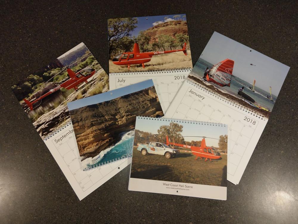 Helicopter Calendar 2018 Western Australia