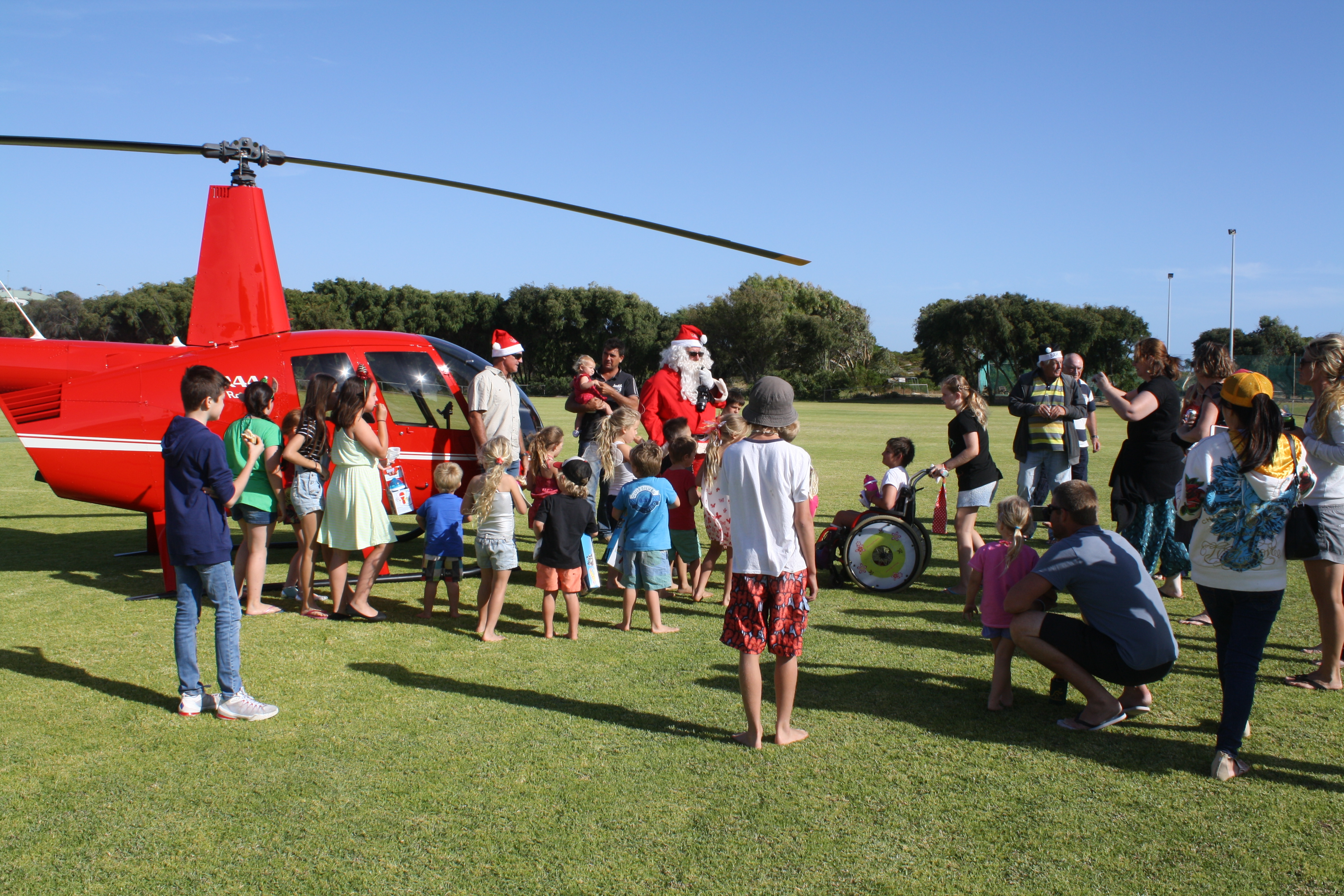 Santa arrives at Seabird 2015