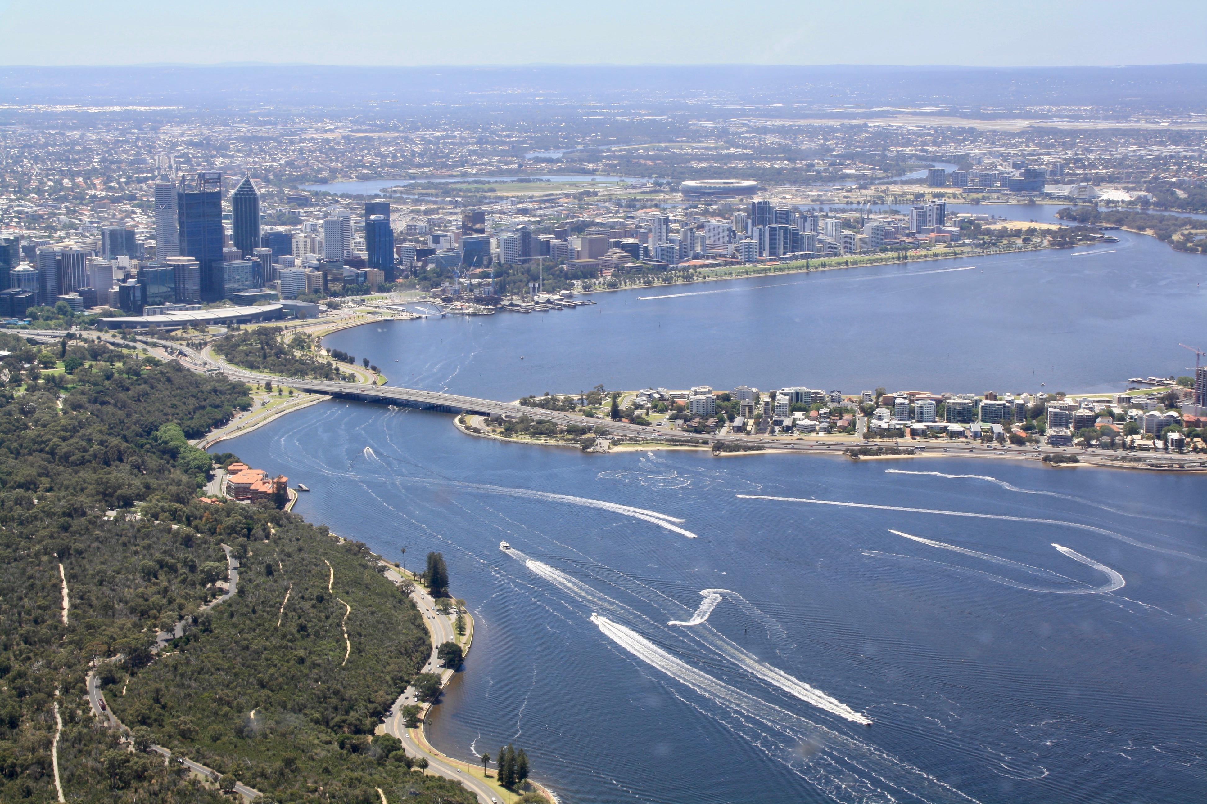 Perth City and Swan River