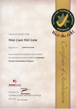 Helicopter Tourism certificate