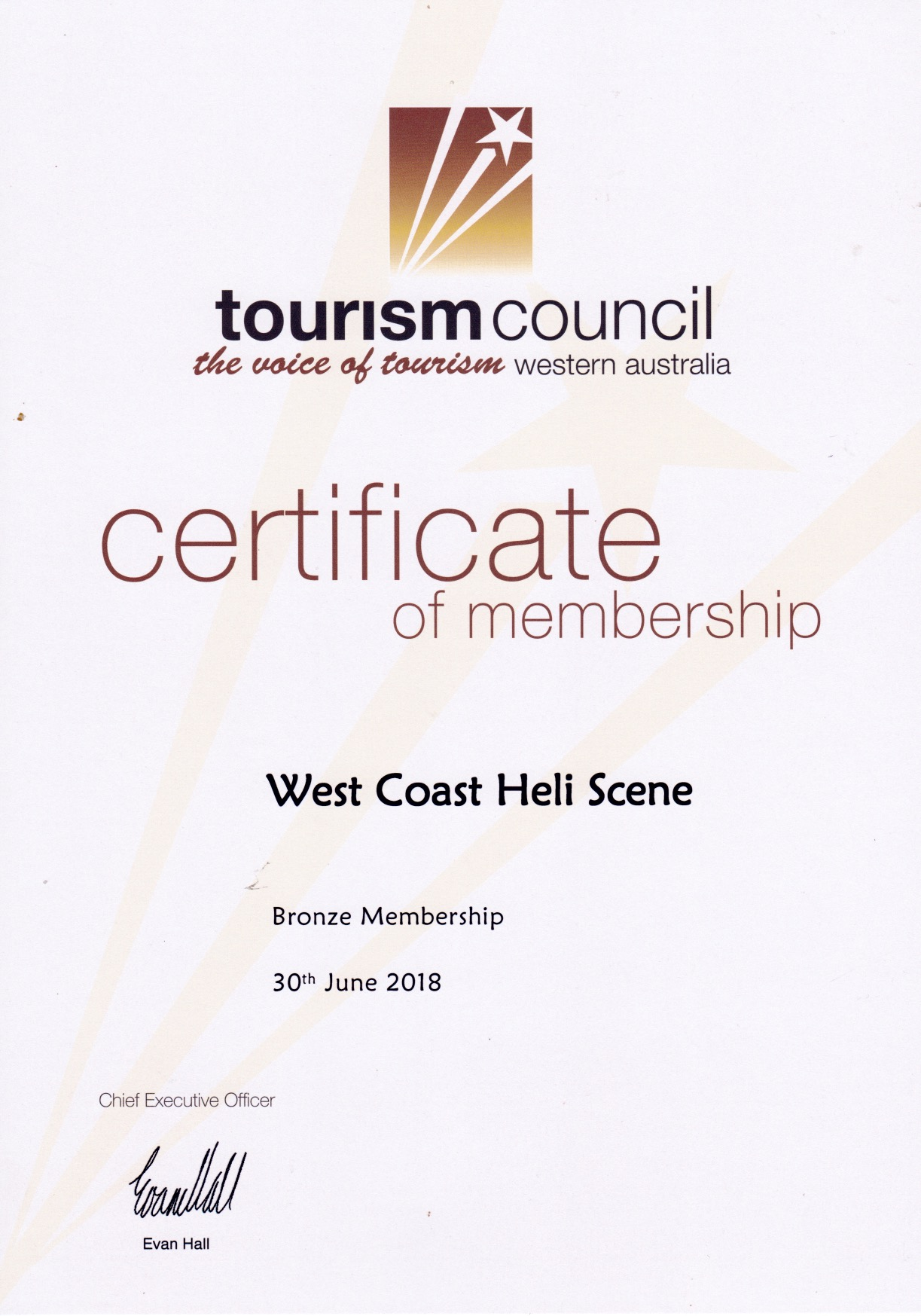 Tourism Council of wa cert 2018