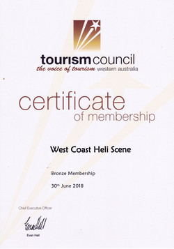 Tourism Council of wa cert 2018