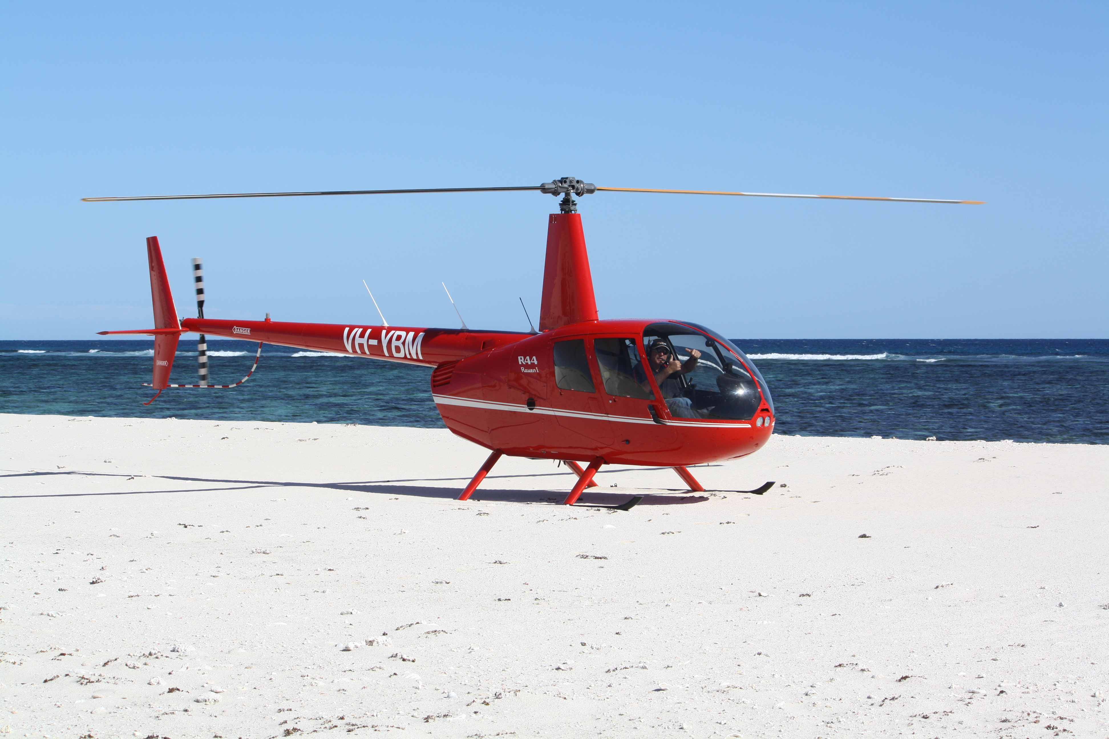 Helicopter on the Beach