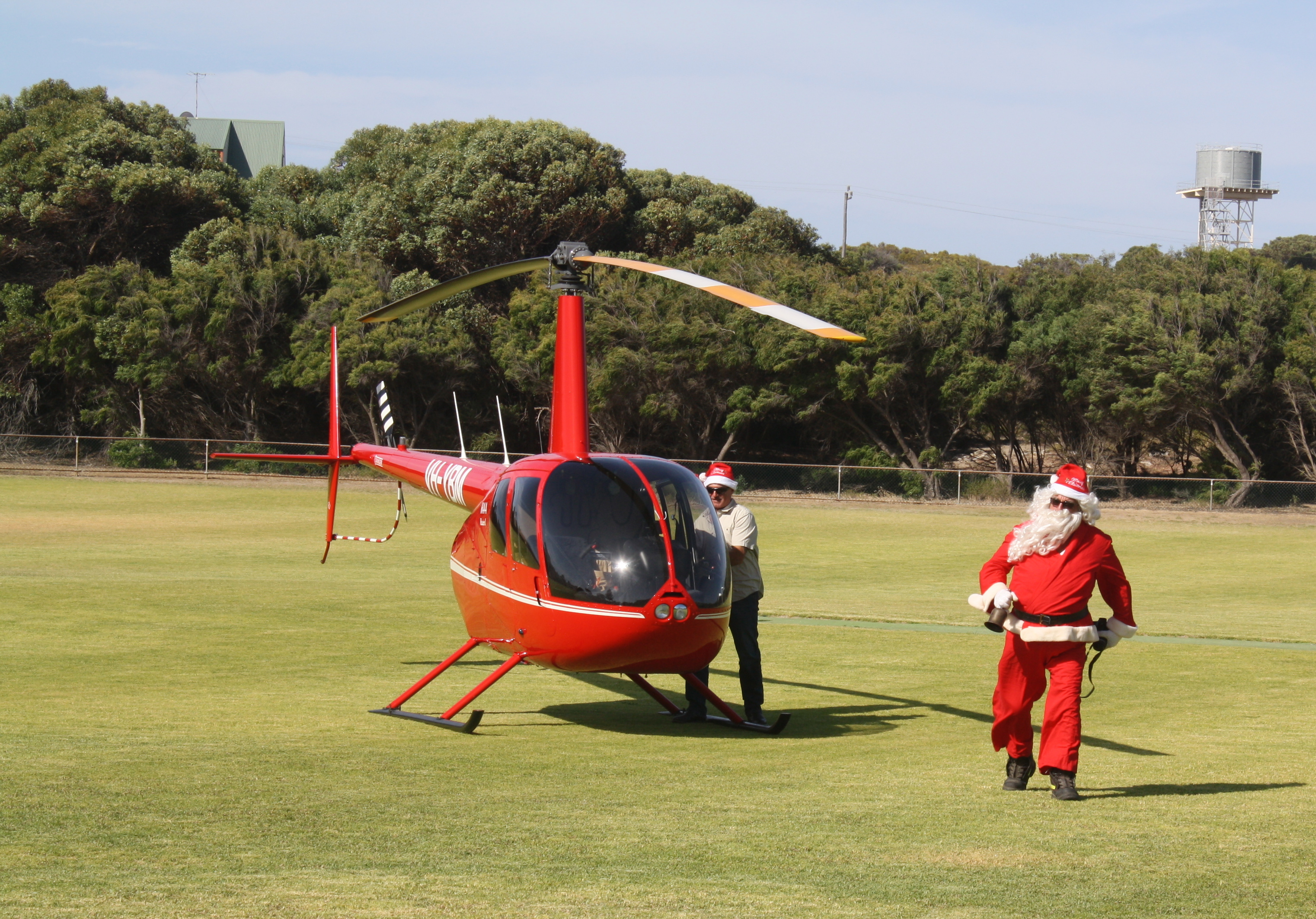 Santa's Helicopter flight
