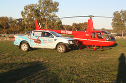 Helicopter and helicopter ute
