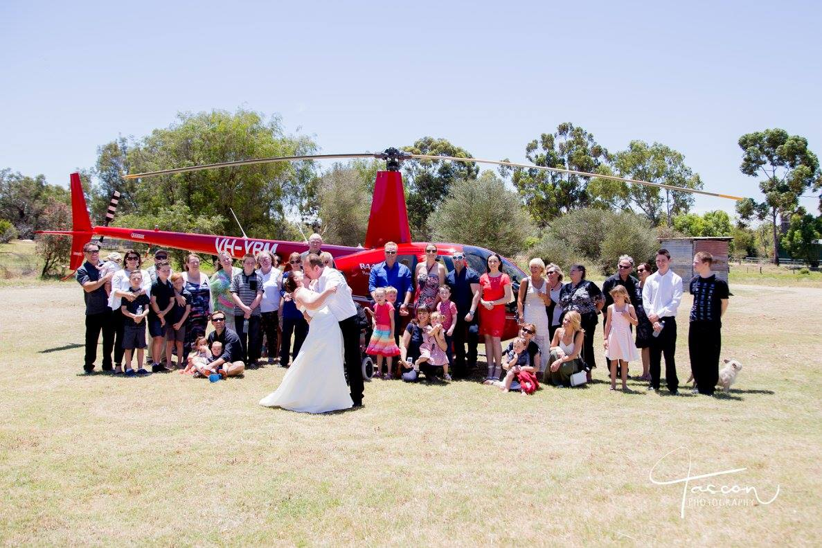 Helicopter Wedding Flight