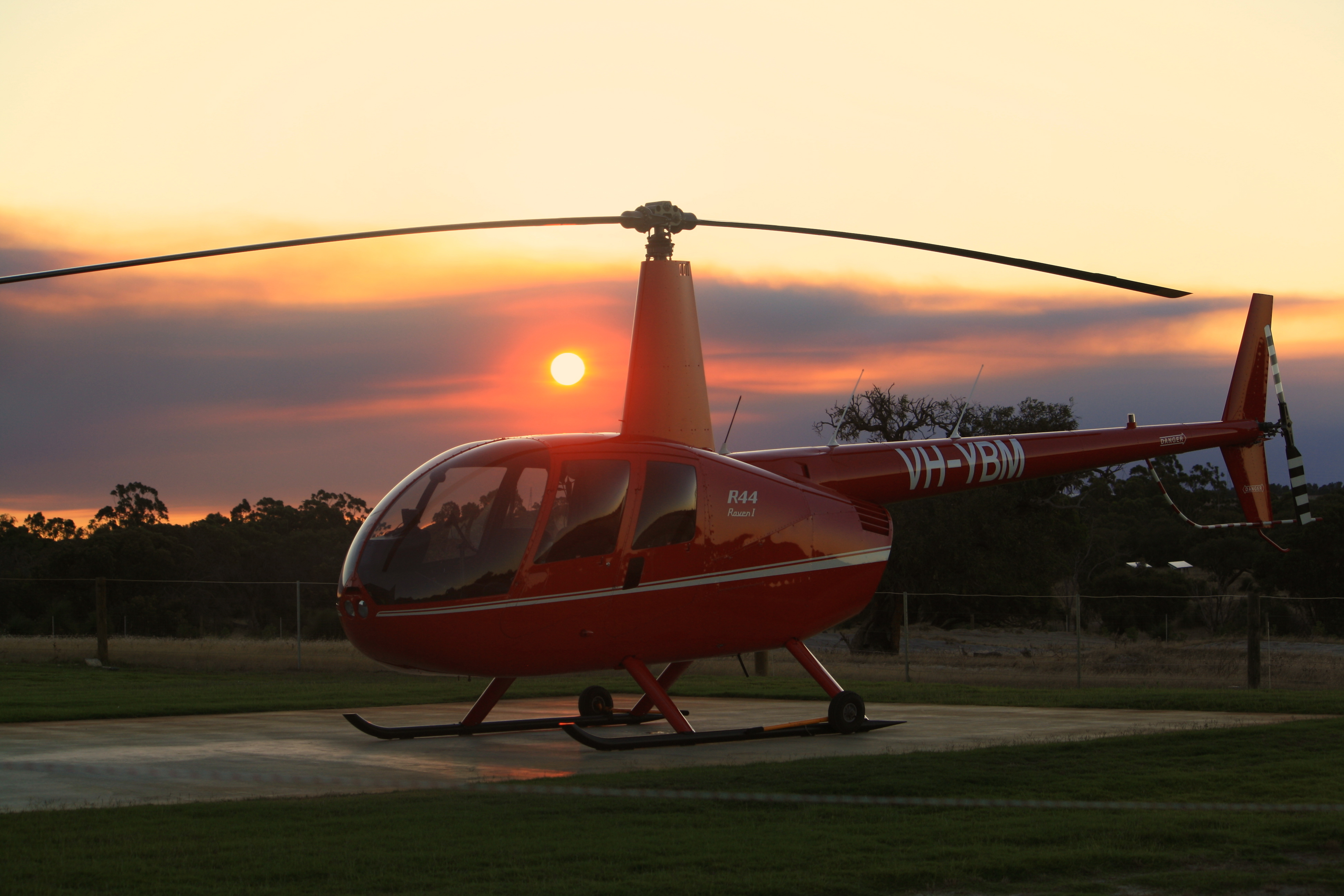Helicopter & Sunset