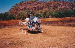 Bell 47 at Hayes Creek NT 1994