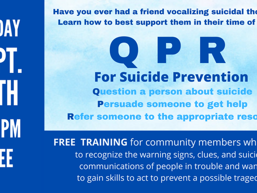Free QPR Community Training For Suicide Prevention