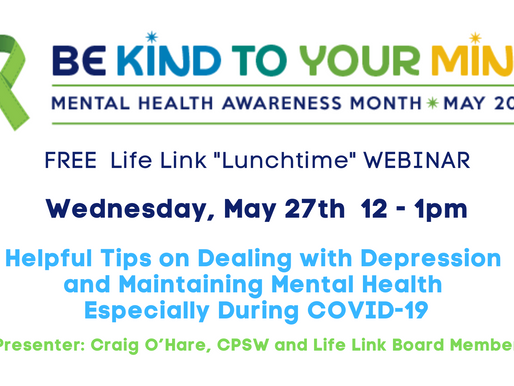 Helpful Tips on Dealing with Depression and Maintaining Mental Health - Especially During COVID-19