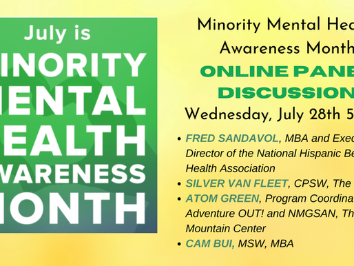 Minority Mental Health Month Online Panel Discussion