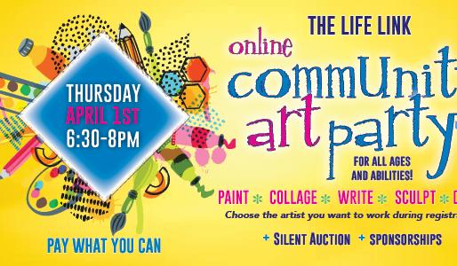 Community Art Party! April 1st, 2021