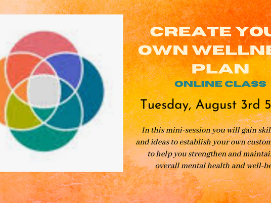 Create Your Own Wellness Plan Online Webinar