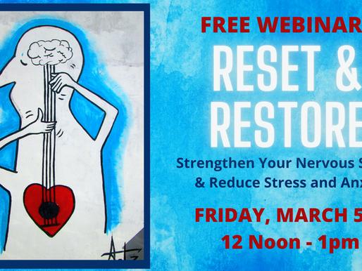 Free Webinar: Reset Your Nervous System