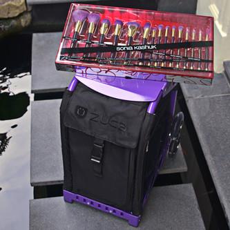 Purple Galore - Zuca Sport & Sonia Kashuk Brushes