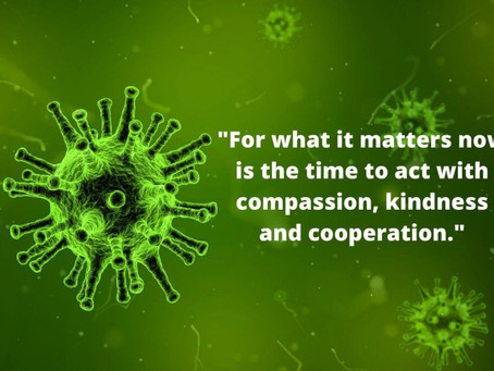 Coronavirus: Responding to COVID 19 - compassion is key
