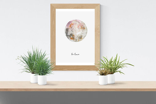 """Poster """"la lune"""""""