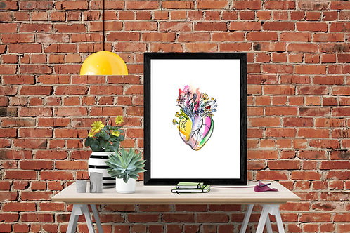 Poster Blooming Heart