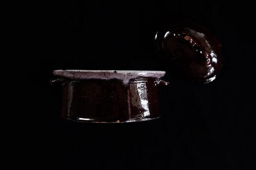 19th.C France Cul Noir Terrine Pot