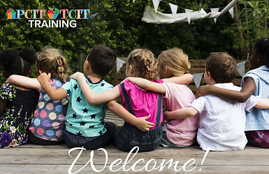 Welcome to PCIT Training picture with 7 children hugging.jpg