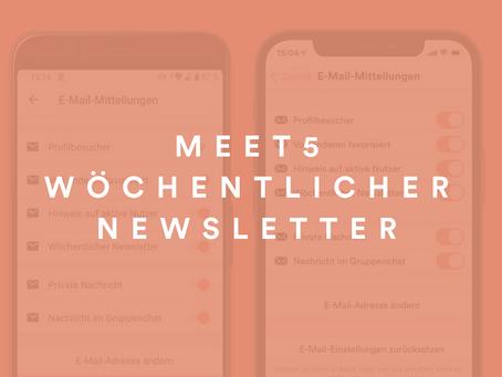 Wöchentlicher Meet5-Newsletter