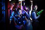 Gruppe bei Lasertag
